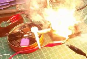 Exploding Tantalum Capacitor